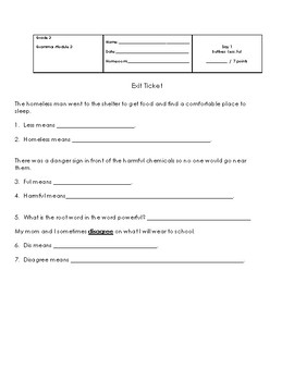 Suffix (Less) and (Ful) Worksheet
