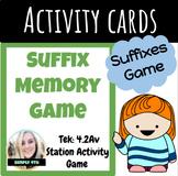 Suffix Memory Game (4th Grade NEW ELAR TEKS)