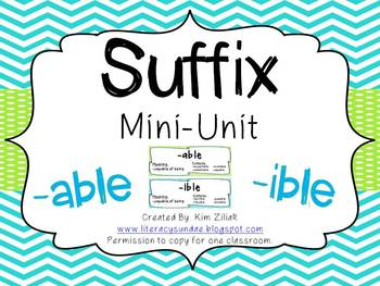 Suffix Mini-Unit {-able & -ible}