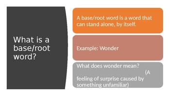 Suffix Powerpoint Presentation