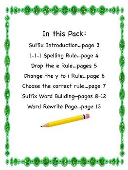 Suffix Practice {3 Great Spelling Rules; Orton-Gillingham}