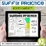 Suffix Practice BOOM CARD™ Deck - Distance Learning