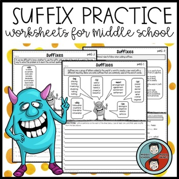 Suffix Practice Worksheets