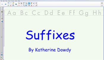 Suffix Practice- Smart Board Activity