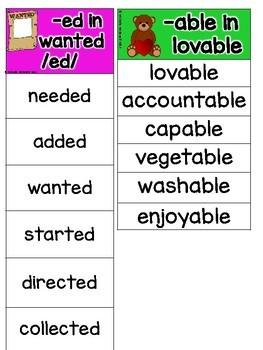 Suffixes: Read & Sort