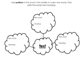 Suffix Prefix Root Base Word Graphic Organizer Interactive Lesson