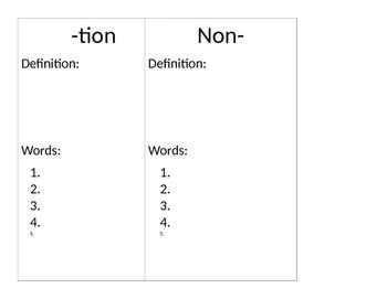 Suffix, Prefix, Root word book