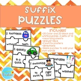 Suffix Puzzles, Suffix Activity, Suffix Poster