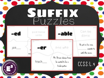 Suffix Puzzles - for Upper Elementary