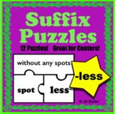 Suffix Puzzles ( -less )