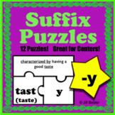 Suffix Puzzles ( -y )