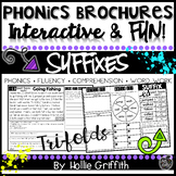 Suffix Reading Comprehension Passages and Word Work -Phonics Brochures