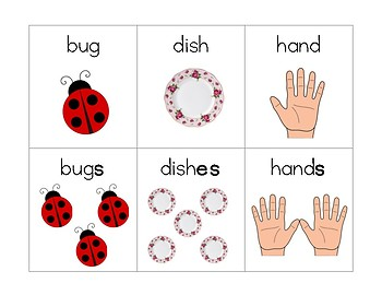 Suffix -S / -ES Word Cards
