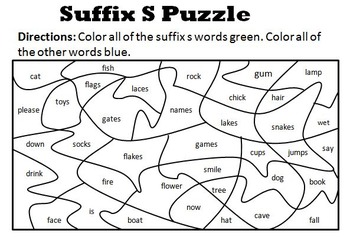 Suffix S Puzzle