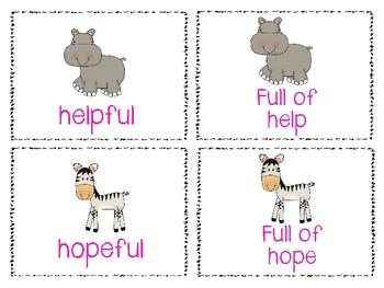Suffix Safari Memory Game