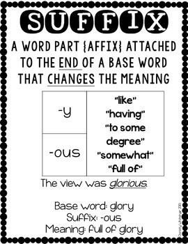 Suffix Savvy: -y, -ous