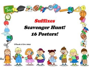 Suffix Scavenger Hunt and 16 Posters!