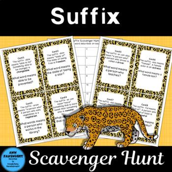 Suffix Scavenger Hunt plus Suffix Poster