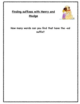 Suffix Search With Henry and Mudge