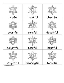 Suffix Snowflakes