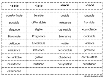 Suffixes - 31 Common Suffixes, 18 Sorts, Sort Forms and more