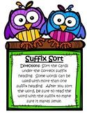 Suffix Sorting Practice-3rd Grade Virginia SOL