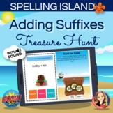 Suffix Spelling Rules Boom Card Hunt Game