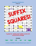 Suffix Squares-Reading Multisyllabic words w/ -ism; -ful;