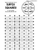 Suffix Squares-Reading Multisyllabic words w/ sive/tive; tion/sion; ible/able