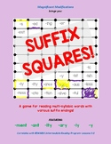 Suffix Squares-Reading Multisyllabic words w/ -y; -ly; -ity; -ary; -ant; -ment