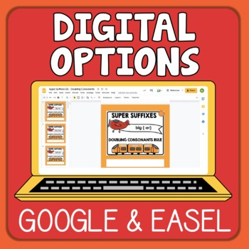 Suffixes Task Cards Triple Set: 96 Cards for Changing the Base Word