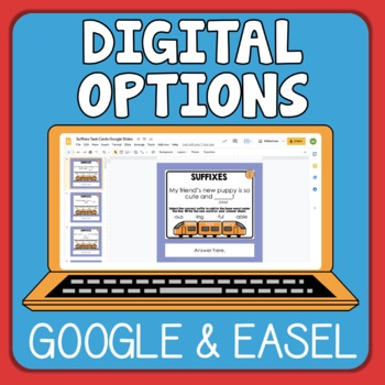 Suffix Task Cards - Differentiated
