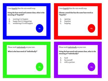 Suffix Task Cards -ly, -ive, -ful