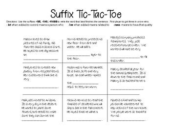 Suffix Tic-Tac-Toe