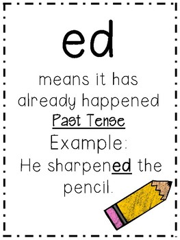 ED and ING: Suffix unit on inflectional endings (NO PREP printable)