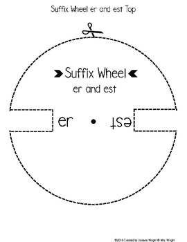 Suffix Wheel Make and Take