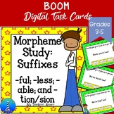 Suffix Word Study:  BOOM Digital Task Cards