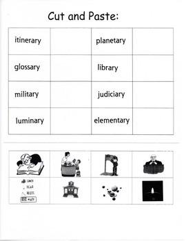 Suffix Word Work 2