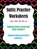 Suffix Worksheets to Practice -ness, -able, -ful, -less, -ly