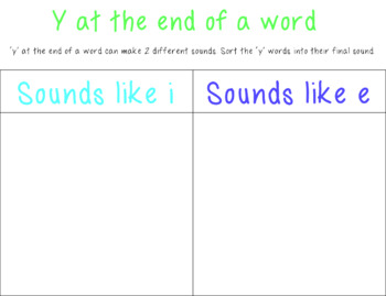 Suffix Y Activity Pack