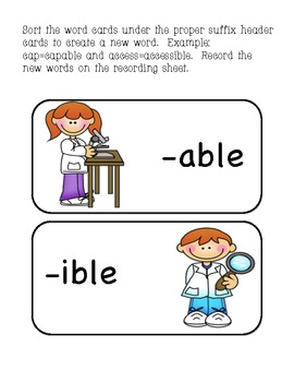 Suffix able & ible