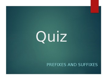 Suffix and Prefix