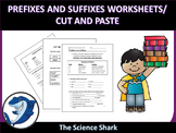 Suffix and Prefix Worksheet/ Cut and Paste -ELA-LITERACY.RF.2.3.D