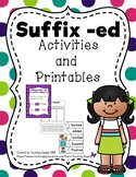 Suffix ed Activities and Printables
