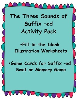 Suffix -ed Activity Sheets and Game Materials