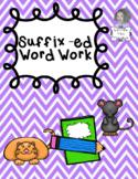 Suffix -ed Independent Word Work