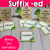 Suffix -ed Word Work