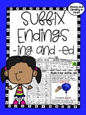 Suffix -ed and -ing Word Work - No Prep