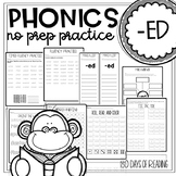 Suffix ed Worksheets and Printables to Practice Inflectional Ending ed