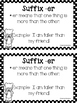 Suffix er (Mini-Book for Comparing Two Things)